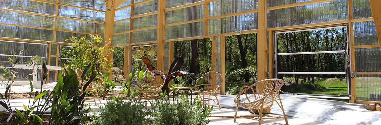 La serre du jardin botanique, pour manger ou boire un verre...